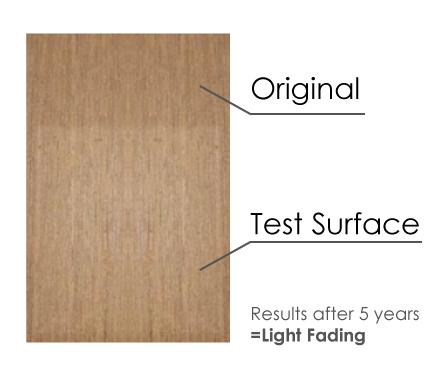 Eco Teak - Nautic Flooring fading test 2